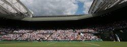 Novak Djokovic in action at 2013 Wimbledon Championships