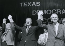 Democratic presidential candidate Bill Clinton campaigns in Texas