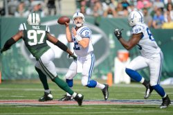 Jets vs Colts at MetLife Stadium in New Jersey