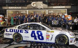Jimmy Johnson wins the Coke Zero 400 in Daytona