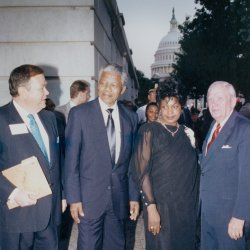 Nelson and Winnie Mandela at Senators Dinner