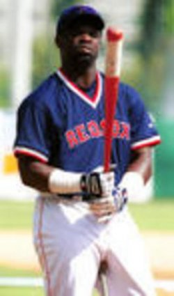 BOSTON RED SOX CARL EVERETT TRADED TO THE TEXAS RANGERS