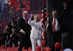 Bill Clinton and Hillary Clinton at DNC