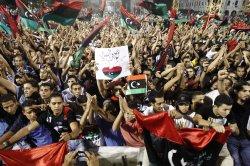 Libyan rebels celebrate after taking Tripoli
