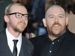 "Simon Pegg and Nick Frost attend the premiere of ""The Adventures Of Tintin: The Secret Of The Unicorn"" in London"