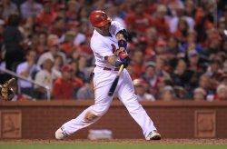 St. Louis Cardinals Yadier Molina doubles