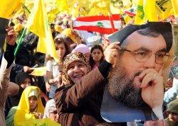 Hezbollah leader Hassan Nasrallah addresses followers in Beirut
