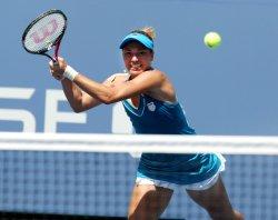 Kateryna Bondarenko and Vera Zvonareva compete at the U.S. Open in New York
