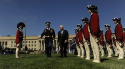 Def. Sec. Gates retires at Pentagon in Virginia