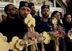 Orthodox Christians Hold Crosses On Good Friday, Jerusalem