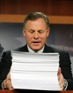 Sen. Burr speaks on healthcare reform on Capitol Hill in Washington