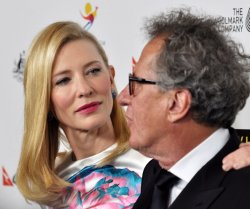 Cate Blanchett and Geoffrey Rush attend the 2014 G'Day USA Los Angeles Black Tie Gala