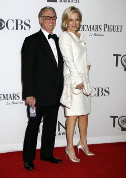 Diane Sawyer and Mike Nichols arrive for the 2012 Tony Awards in New York