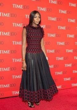 Naomi Campbell arrives at the TIME 100 Gala in New York
