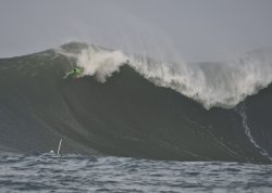 Mavericks Invitational surfing in Half Moon Bay, California