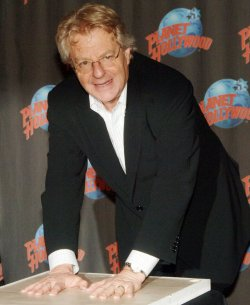 Jerry Springer celebrates 18th season of talk show at New York's Planet Hollywood