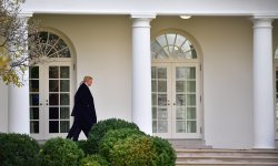 President Trump departs the White House
