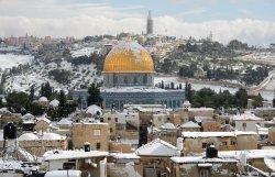 Snow On Dome Of The Rock, Jerusalem
