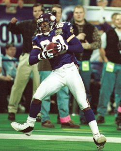 Vikings wide receiver Cris Carter