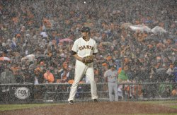 St. Louis Cardinals vs San Francisco Giants in NLCS Game Seven in San Francisco