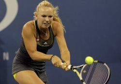 Caroline Wozniacki at the U.S. Open Tennis Championships in New York