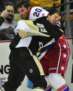 Pens Kennedy and Capitals Brouwer Fight in Pittsburgh