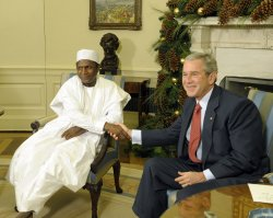 Bush meets with Nigerian president at White House