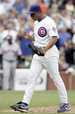 Chicago Cubs Reliever Marmol Reacts to Win Over Mets