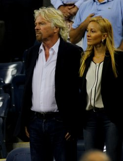 Richard Branson attends the U.S. Open in New York