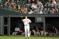 Markakis Catch in Baltimore, MD