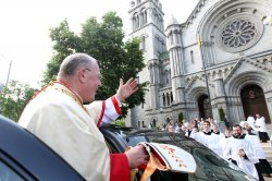New York Cardinal Timothy Dolan returns to his home in St. Louis