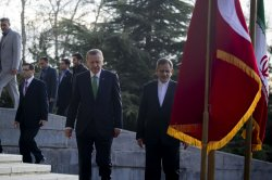 Welcome ceremony for Turkish Prime Minister Recep Tayyip Erdogan in Tehran, Iran