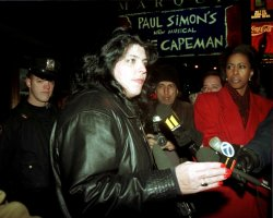 victims kin protest paul simons broadway musical celebrating the killer