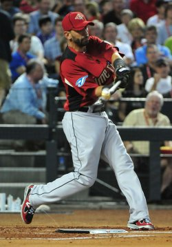 Jose Bautista hits during the 2011 Home Run Derby in Arizona