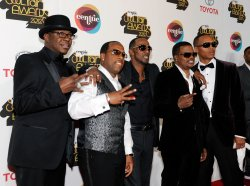 New Edition arrives at the Soul Train Awards 2012 in Las Vegas