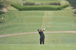 Clarke hits approach shot on 12th hole at 93rd PGA Championship