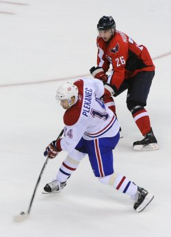 Canadiens Plekanec scores game-winning goal against the Capitals in Washington
