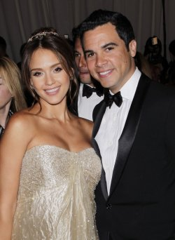 Jessica Alba and Cash Warren arrive at the Costume Institute Gala Benefit in New York