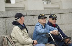 Veterans Day at the World War II Memorial in Washington, D.C.