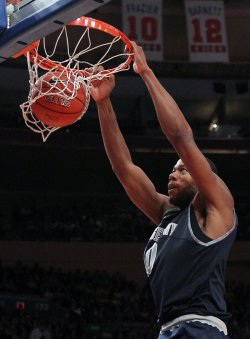 Georgetown Hoyas Greg Monroe at the NCAA Big East Men's Basketball Championships Finals in New York