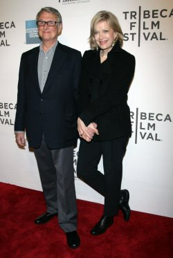 """Diane Sawyer and Mike Nichols arrive for the Tribeca Film Festival Premiere of """"Jesus Henry Christ"""" in New York"""