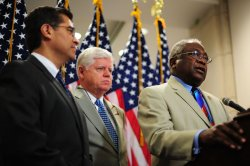 Rep. James Clyburn (D-SC) speaks on the debt debate in Washington