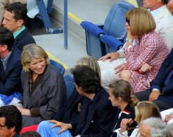 Martha Stewart and Anna Wintour attend the at the U.S. Open in New York