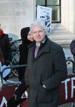 Julian Assange at London's Supreme Court