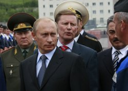 RUSSIAN PRESIDENT PUTIN INSPECTS A SUBMARINE BASE AT THE KAMCHATKA PENINSULA