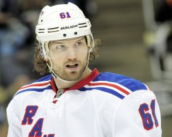 New York Rangers Rick Nash in Pittsburgh