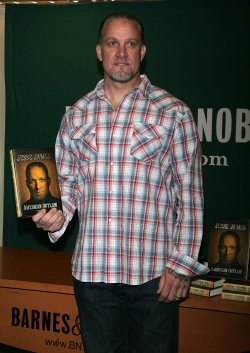 """Jesse James promotes his new book """"American Outlaw"""" in New York"""