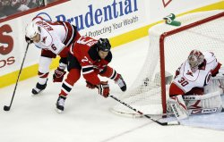 Carolina Hurricanes at New Jersey Devils NHL Post Season Eastern Conference Quarterfinal Game 2 in New Jersey