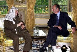 Arafat meets with Chirac