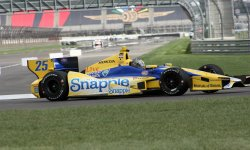 Marco Andretti tests the new road course for inaugural Grand Prix of Indianapolis event at the Indianapolis Motor Speedway